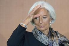 L'économie russe, qui pâtit déjà de la crise ukrainienne, pourrait s'en trouver encore plus affectée si les tensions avec l'Occident ne s'apaisent pas, estime la directrice générale du Fonds monétaire international (FMI), Christine Lagarde. /Photo prise le 13 mai 2014/REUTERS/Maurizio Gambarini/Pool