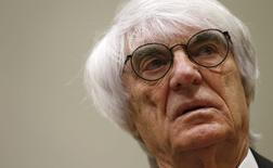 Formula One chief executive Bernie Ecclestone arrives in court in Munich May 14, 2014.  REUTERS/Michaela Rehle