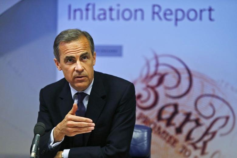 Bank of England governor Mark Carney speaks during the bank's quarterly inflation report news conference at the Bank of England in London May 14, 2014. REUTERS/Lefteris Pitarakis/pool