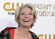 Actress Emma Thompson arrives at the 19th annual Critics' Choice Movie Awards in Santa Monica, California in this January 16, 2014 file photo.  REUTERS/Kevork Djansezian/Files