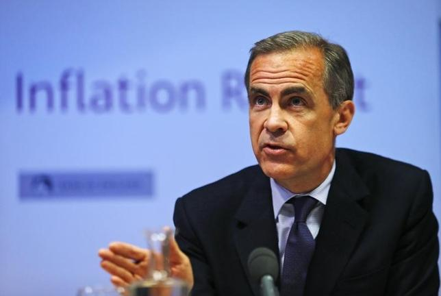 Bank of England governor Mark Carney listens during the bank's quarterly inflation report news conference at the Bank of England in London May 14, 2014. REUTERS/Lefteris Pitarakis