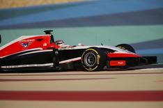 Marussia Formula One driver Jules Bianchi of France drives during the second in-season test at Bahrain International Circuit (BIC) in Sakhir south of Manama, April 9, 2014. REUTERS/Hamad I Mohammed