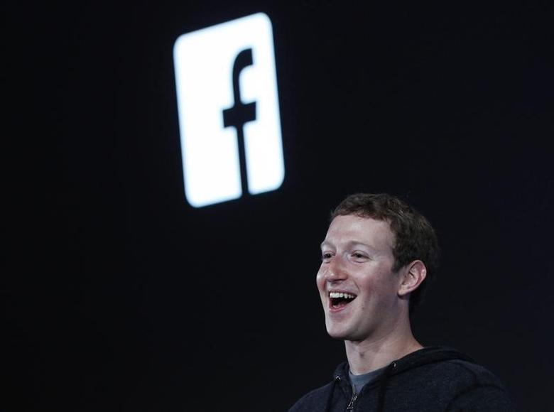 Mark Zuckerberg, Facebook's co-founder and chief executive introduces 'Home' a Facebook app suite that integrates with Android during a Facebook press event in Menlo Park, California, April 4, 2013.  REUTERS/Robert Galbraith /Files