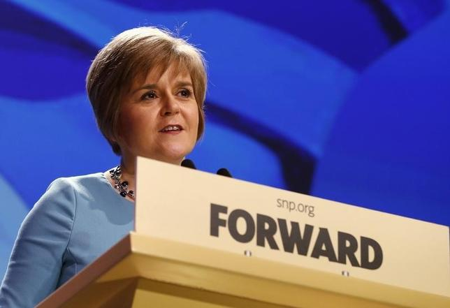 Scotland's Deputy First Minister Nicola Sturgeon speaks at the SNP Spring Conference in Aberdeen,  Scotland April 11, 2014. REUTERS/Russell Cheyne