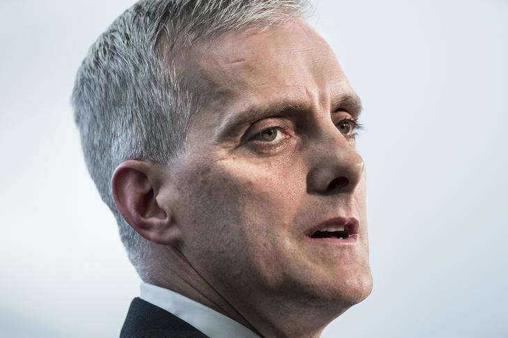White House Chief of Staff Denis McDonough speaks during a retirement ceremony at the National Security Agency in Fort Meade, Maryland March 28, 2014. REUTERS/Brendan Smialowski/Pool
