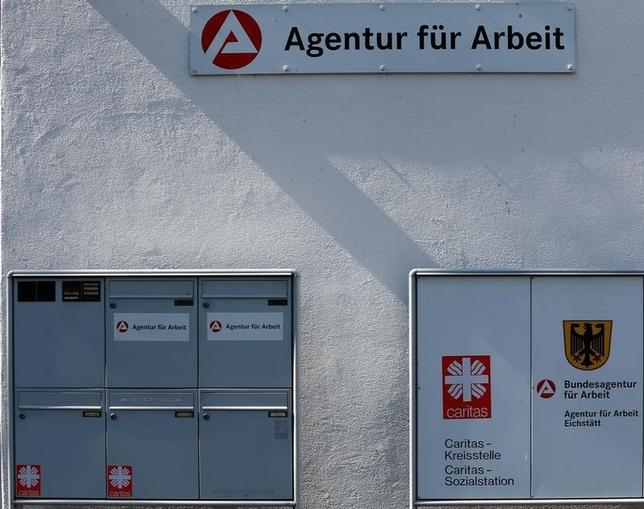 The entrance of the Jobcenter in Eichstaett August 29 2013. Eichstaett is Germany's city with the lowest unempolyment rate. REUTERS/Michael Dalder