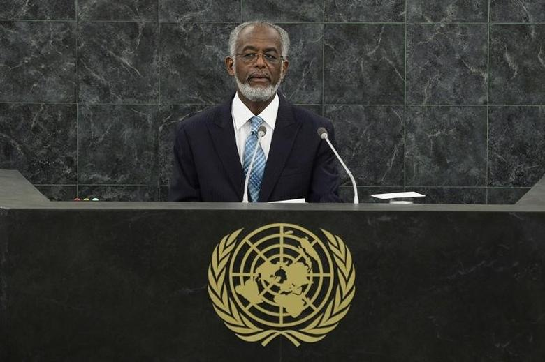 Sudanese Foreign Minister Ali Ahmed Karti addresses the 68th United Nations General Assembly at U.N. headquarters in New York, September 27, 2013.  REUTERS/Eduardo Munoz