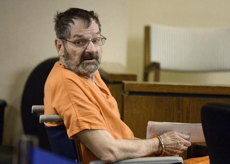 Frazier Glenn Cross Jr, also known as Glenn Miller, sits in a Johnson County courtroom for a scheduling session in Olathe, Kansas April 24, 2014.  REUTERS/John Sleezer/The Kansas City Star/Pool