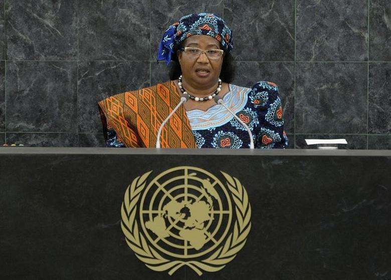 Malawi's President Joyce Banda addresses the 68th United Nations General Assembly at UN headquarters in New York September 24,2013.   REUTERS/Justin Lane/Pool