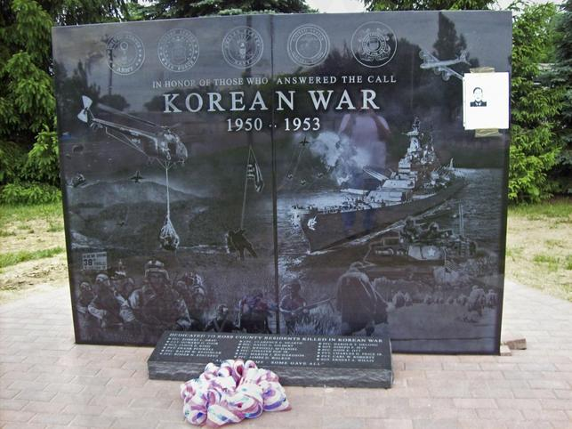 A stone memorial commemorating locals who fought and died in the Korean War is seen after being unveiled at Ross County Veterans Memorial Park in Chillicothe, Ohio, in this May 28, 2014 handout provided by Tina Kutschbach. REUTERS/Tina Kutschbach/Handout via Reuters
