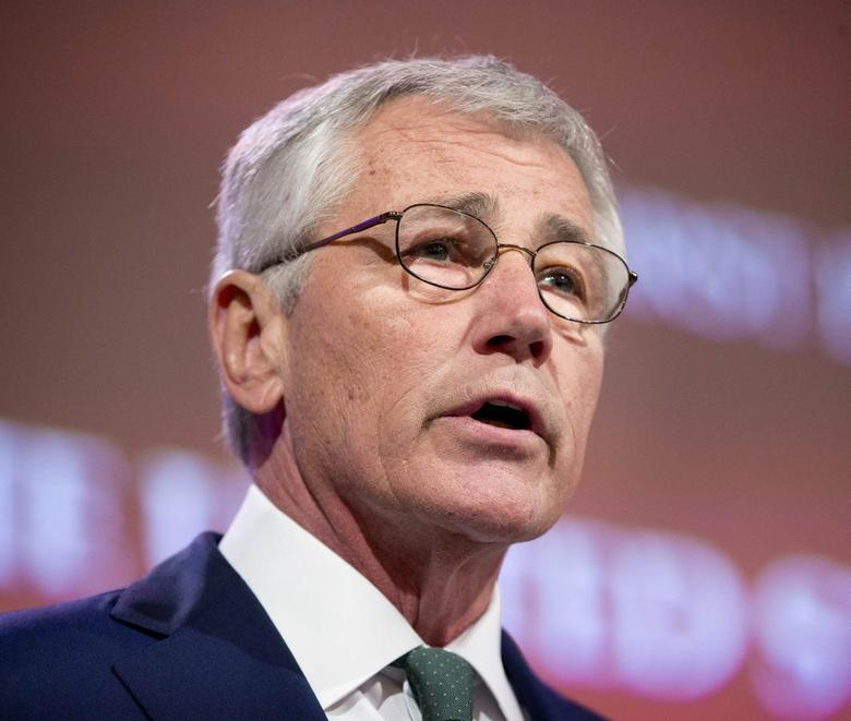 U.S. Defense Secretary Chuck Hagel speaks at the opening plenary meeting at the 13th Asia Security Summit in Singapore, May 31, 2014. REUTERS/Pablo Martinez Monsivais/Pool