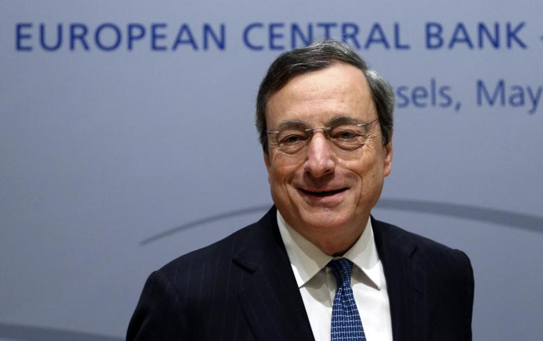 European Central Bank (ECB) President Mario Draghi arrives at a news conference following the ECB Governing Council meeting in Brussels May 8, 2014. REUTERS/Francois Lenoir