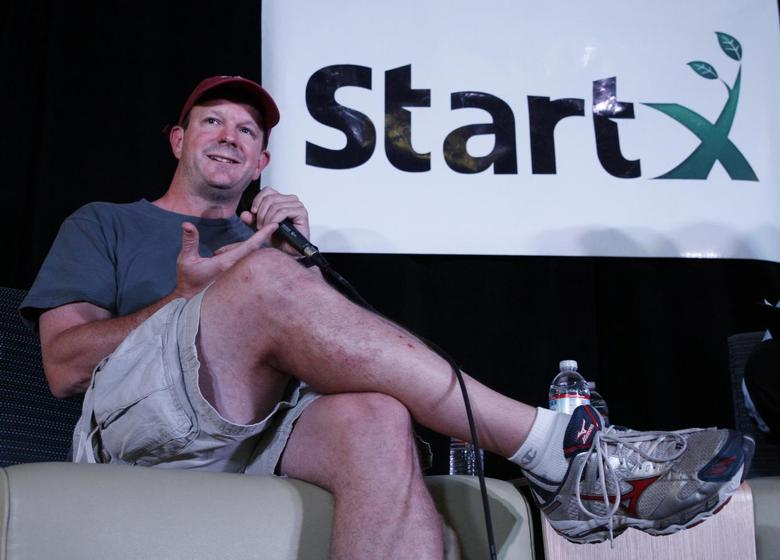 Brian Acton of WhatsApp speaks at StartX offices in Palo Alto, California, in this June 4, 2014 picture courtesy of StartX.  REUTERS/Paul Sakuma/Courtesy of StartX/Handout via Reuters