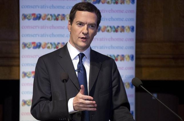 Britain's Chancellor of the Exchequer George Osborne delivers a speech at the ConservativeHome spring conference in central London May 24, 2014. REUTERS/Neil Hall