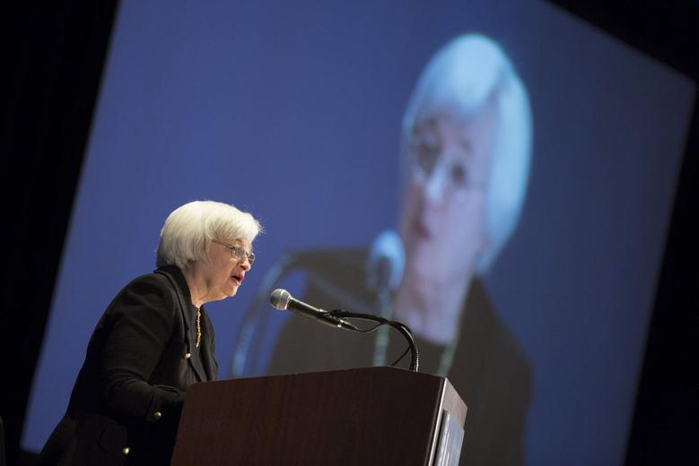 United States Federal Reserve Chair Janet Yellen speaks at the 2014 National Interagency Community Reinvestment Conference in Chicago, March 31, 2014. REUTERS/John Gress