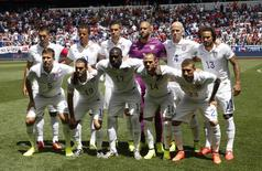 The U.S. National soccer team players pose for photographers before their international friendly soccer match against Turkey in Harrison, New Jersey, June 1, 2014.  REUTERS/Mike Segar