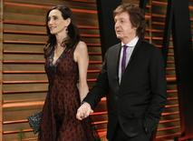 Musician Paul McCartney and wife Nancy Shevell arrive at the 2014 Vanity Fair Oscars Party in West Hollywood, California March 2, 2014. REUTERS/Danny Moloshok