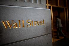 A sign is seen on Wall Street near the New York Stock Exchange June 15, 2012. REUTERS/Eric Thayer (UNITED STATES - Tags: BUSINESS) - RTR33NPP
