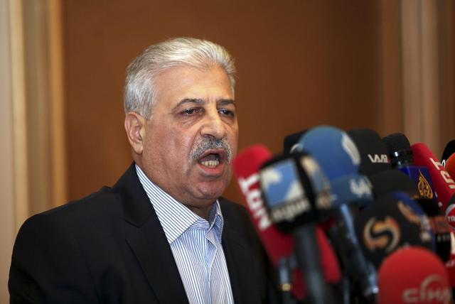 REFILE - CLARIFYING TAGSMosul governor Atheel al-Nujaifi addresses a news conference in Arbil, in Iraq's Kurdistan region June 11, 2014.    REUTERS/Azad Lashkari
