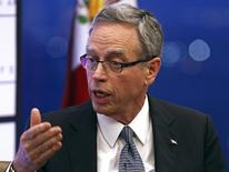 Canada's Finance Minister Joe Oliver speaks during a panel discussion at the North American Energy Summit in the Manhattan borough of New York, June 10, 2014.  REUTERS/Adam Hunger