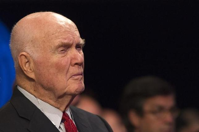 Retired astronaut and former U.S. Senator John Glenn looks on during the first day of the Clinton Global Initiative 2012 (CGI) meeting in New York, September 23, 2012. REUTERS/Lucas Jackson