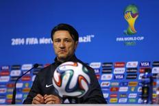 Técnico da seleção da Croácia, Niko Kovac, durante coletiva de imprensa na Arena Corinthians, São Paulo. 11/06/2014.  REUTERS/Ivan Alvarado