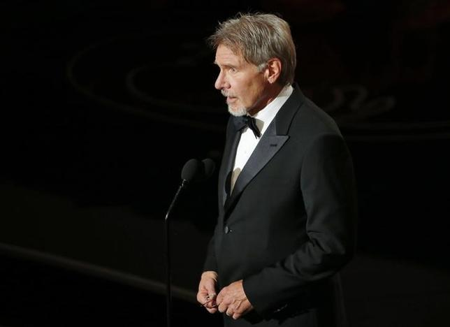 Harrison Ford introduces film clips at the 86th Academy Awards in Hollywood, California March 2, 2014 file photo.  REUTERS/Lucy Nicholson