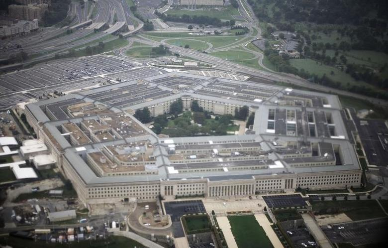Aerial view of the United States military headquarters, the Pentagon, September 28, 2008. REUTERS/Jason Reed
