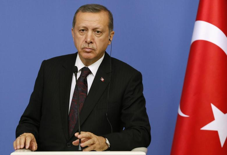 Turkish Prime Minister Tayyip Erdogan attends a news conference in Ankara June 9, 2014. REUTERS/Umit Bektas