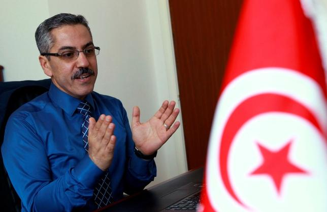 Chafik Sarsar, head of the Instance Superieure Independante pour les Elections (ISIE), speaks during an interview in Tunis May 3, 2014.  REUTERS/Anis Milii