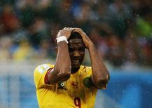 Atacante camaronês Eto'o na partida contra o México em Natal. 13/06/2014 REUTERS/Jorge Silva