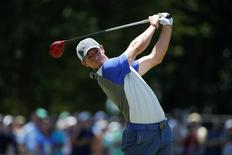 Rory McIlroy tees on the third tee during the final round of the 2014 U.S. Open golf tournament at Pinehurst Resort Country Club - #2 Course. Mandatory Credit: Jason Getz-USA TODAY Sports