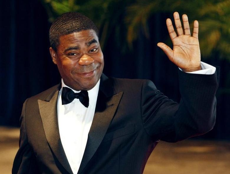 Comedian Tracy  Morgan from the television series ''30 Rock'' arrives at the White House Correspondents' Association dinner in Washington May 1, 2010. REUTERS/Richard Clement