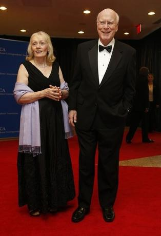 Senator Patrick Leahy (D-Vt) and his wife, Marcelle Pomerleau, arrive on the red carpet at the annual White House Correspondents' Association Dinner in Washington, May 3, 2014. REUTERS/Jonathan Ernst