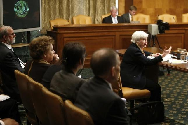 U.S. Federal Reserve Chair Janet Yellen testifies about the U.S. economy before a Senate Budget Committee hearing on Capitol Hill in Washington May 8, 2014. REUTERS/Jonathan Ernst/Files