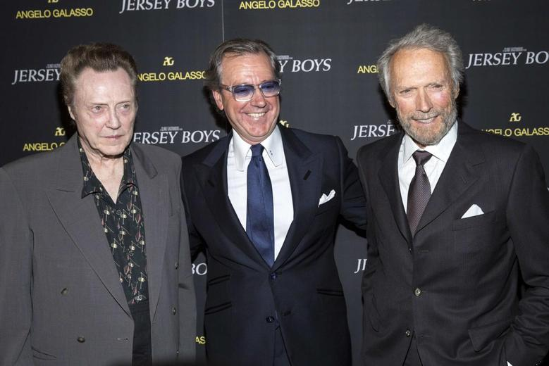 Christopher Walken, Angelo Galasso and Clint Eastwood attend the premiere of Jersey Boys in New York June 9, 2014.  REUTERS/Andrew Kelly