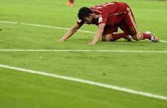 Diego Costa em lance de Espanha x Chile.   REUTERS/Dylan Martinez