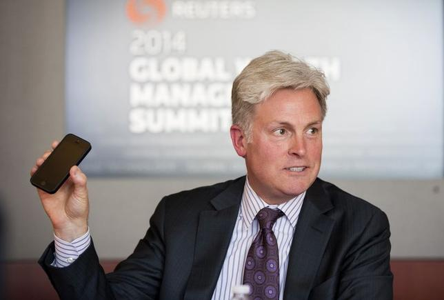 Tom Bradley, president of the retail distribution of TD Ameritrade Holding, speaks during the Thomson Reuters Global Wealth Management Summit in New York June 18, 2014.  REUTERS/Lucas Jackson