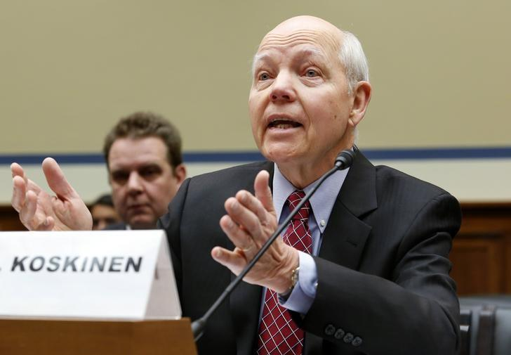 IRS Commissioner John Koskinen testifies before the House Oversight and Government Reform Committee hearing on ''Examining the IRS (Internal Revenue Service) Response to the Targeting Scandal'' on Capitol Hill in Washington March 26, 2014. REUTERS/Yuri Gripas (UNITED STATES - Tags: POLITICS BUSINESS) - RTR3IO7R