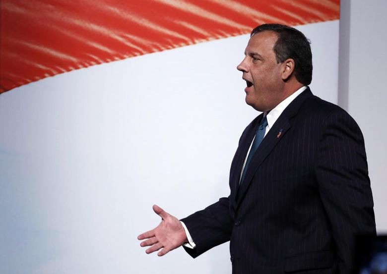 New Jersey Gov. Chris Christie walks in before speaking at the second day of the 5th annual Faith & Freedom Coalition's ''Road to Majority'' Policy Conference in Washington, June 20, 2014.     REUTERS/Larry Downing
