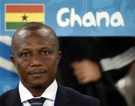 Técnico da seleção de Gana, Kwesi Appiah, antes de partida contra os Estados Unidos em Natal. 16/06/2014. REUTERS/Toru Hanai