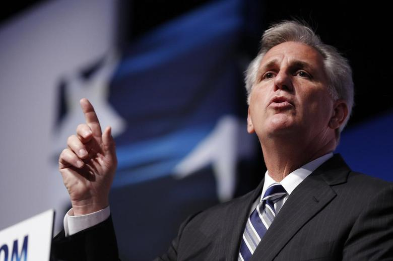 U.S. House Majority Leader-elect Rep. Kevin McCarthy (R-CA) gestures on the second day of the 5th annual Faith & Freedom Coalition's ''Road to Majority'' Policy Conference in Washington, June 20, 2014.     REUTERS/Larry Downing