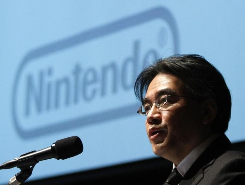 Nintendo Co President Satoru Iwata speaks during their strategy and earnings briefings in Tokyo January 27, 2012. REUTERS/Toru Hanai