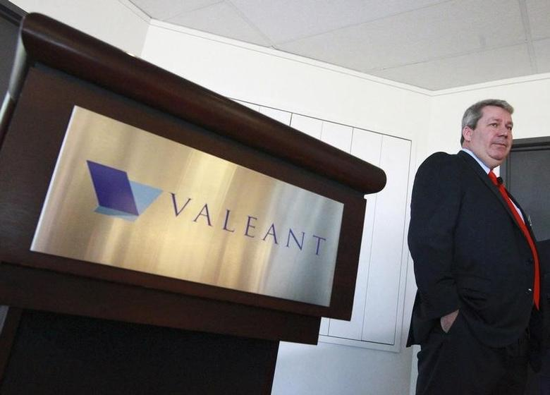 J. Michael Pearson, Chairman of the board and Chief Executive Officer of Valeant Pharmaceuticals International Inc., waits for the start of their annual general meeting in Laval, Quebec May 20, 2014. REUTERS/Christinne Muschi