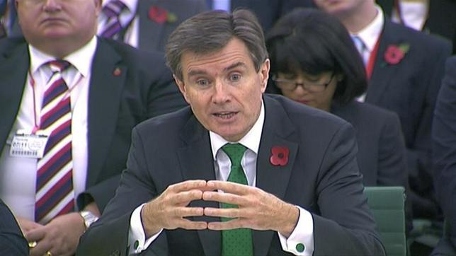 John Sawers the head of M16 is seen attending an Intelligence and Security Committee hearing at Parliament, in this still image taken from video in London November 7, 2013. REUTERS/UK Parliament via REUTERS TV