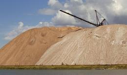 Отвалы пустой породы у шахты Беларуськалия близ Солигорска 31 августа 2013 года. REUTERS/Vasily Fedosenko