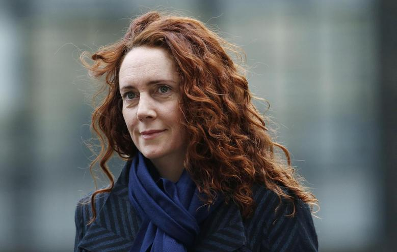 Former News International chief executive Rebekah Brooks arrives at the Old Bailey courthouse in London in this February 28, 2014 file photo. REUTERS/Suzanne Plunkett/Files