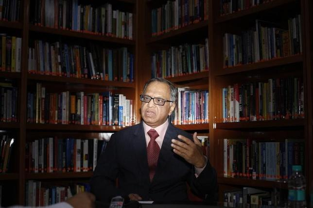 N.R. Narayana Murthy, Chairman Emeritus of Infosys, speaks during an interview with Reuters in Bangalore, February 28, 2012. REUTERS/Vivek Prakash/Files