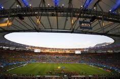 Vista do Maracanã em partida França x Equador na Copa do Mundo. 25/06/2014 REUTERS/Ricardo Moraes