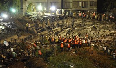 Buildings collapse in Delhi and Tamil Nadu